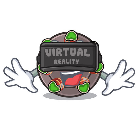 Virtual reality fried escargot in a cartoon hot pan