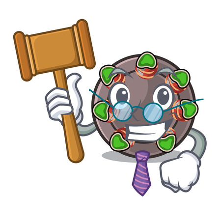 Judge escargot in the a cartoon shape vector ilustration