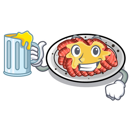 With juice carpaccio isolated with in the mascot vector illustration
