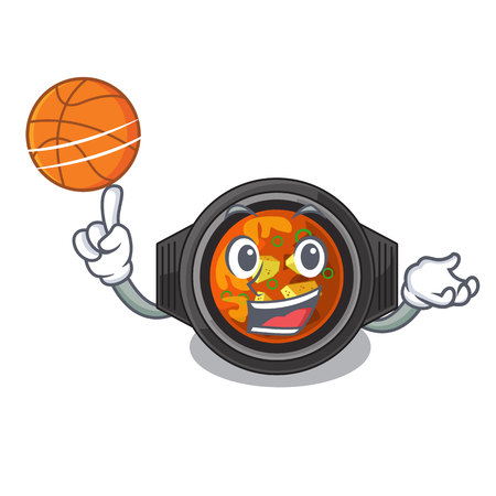 With basketball kimchi tighe served in mascot bowl vector illustration Ilustração