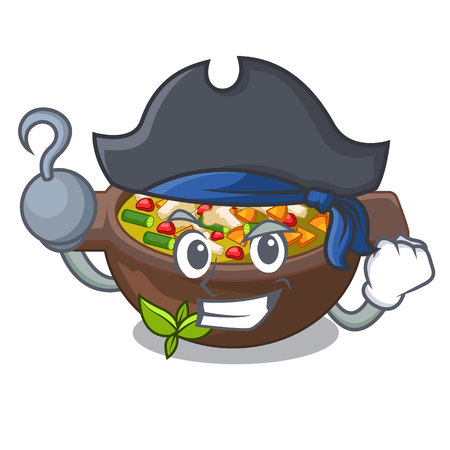Pirate minestrone isolated with in the cartoon