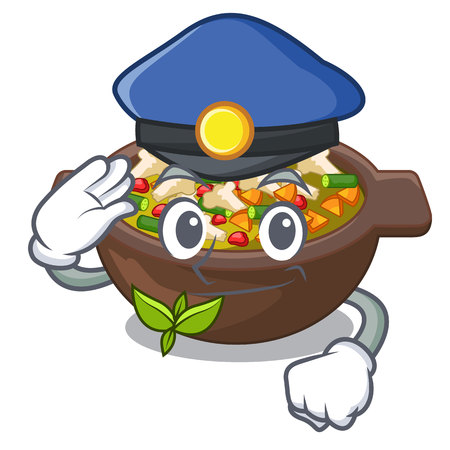 Police minestrone isolated with in the cartoon vector illustration