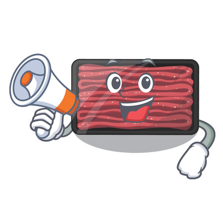 With megaphone minced meat isolated in the character vecto illustration Stok Fotoğraf - 122791097