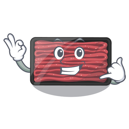 Call me minced meat in the cartoon shape vector illustration
