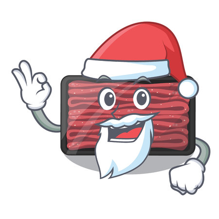 Santa minced meat in the cartoon shape vector illustration