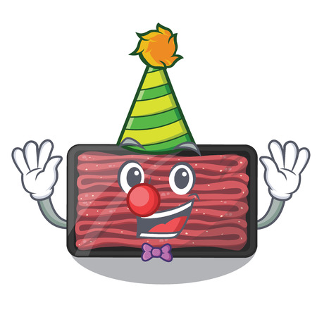Clown minced meat in the cartoon shape vector illustration Çizim