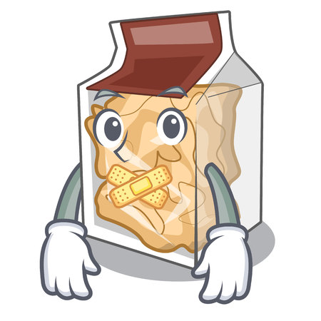 Silent pork rinds in the character plastic Illustration
