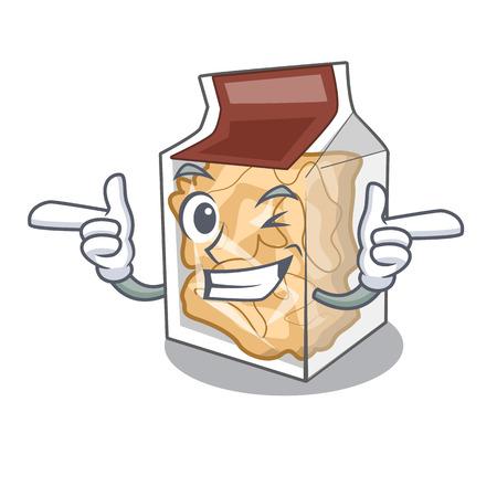 Wink pork rinds in a cartoon jar vector illustration Vector Illustration