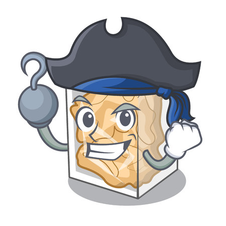 Pirate pork rinds isolated in the cartoon Illustration