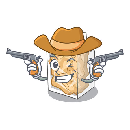 Cowboy pork rinds isolated in the cartoon  イラスト・ベクター素材