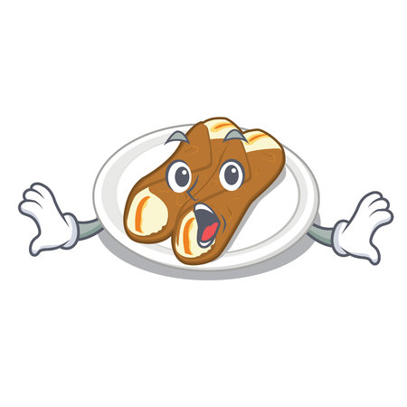 Surprised cannoli isolated with in the character vector illustration Imagens - 122743136