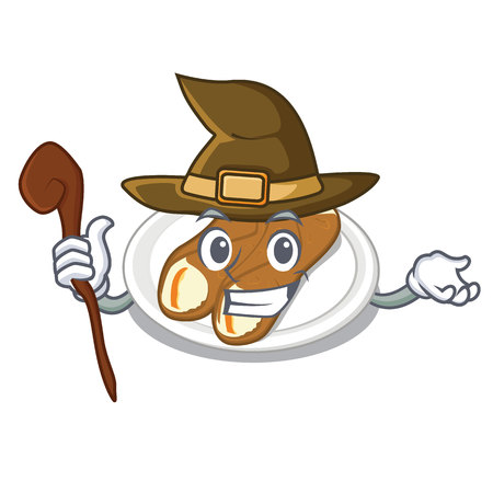 Witch cannoli isolated with in the character Illustration