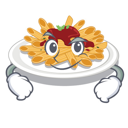 Smirking pasta in the character plate