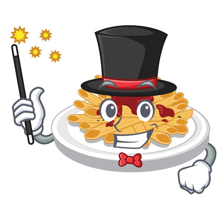 Magician pasta isolated with in the cartoon Stock Illustratie