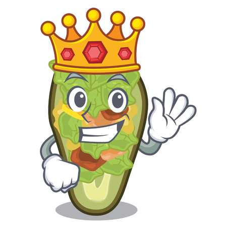 King stuffed avocado in the mascot shape vector illustration Banque d'images - 122477772