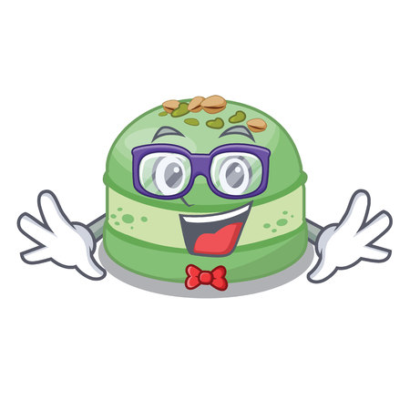Geek pistachio in the cartoon fridge