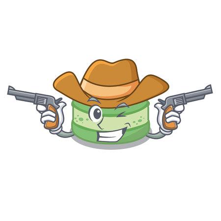 Cowboy pistachio cake in the saucer cartoon