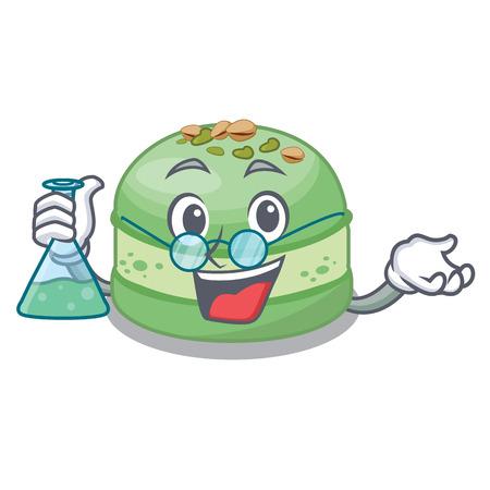 Professor pistachio cake in the cartoon fridge vector illustration