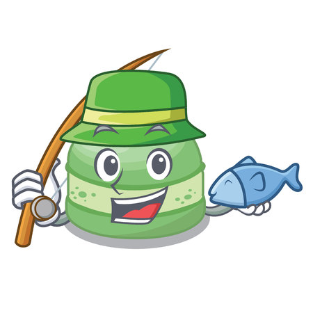 Fishing pistachio cake isolated in the character vector illustration Illustration