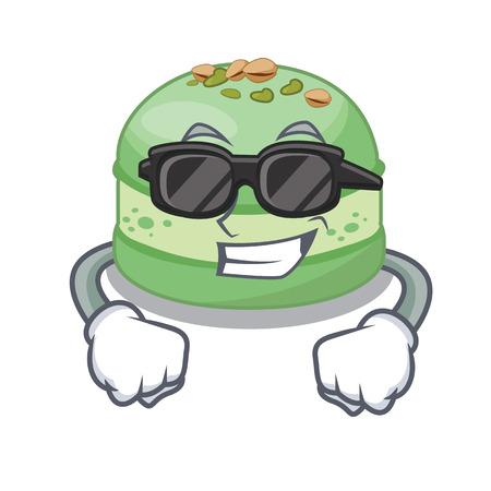 Super cool pistachio cake in the cartoon fridge vector illustration