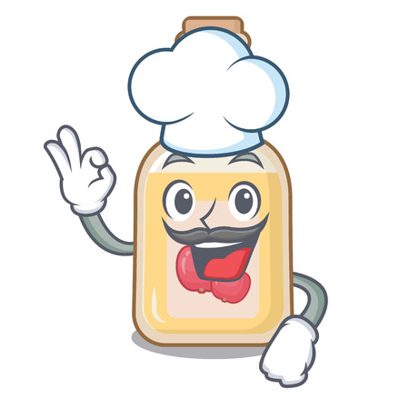 Chef apple cider isolated with the mascot