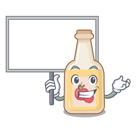 Bring board cartoon apple cider in a glass Stock Illustratie