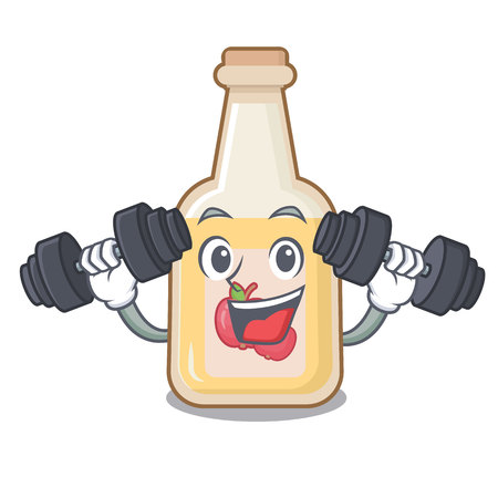 Fitness cartoon apple cider in a glass Illustration