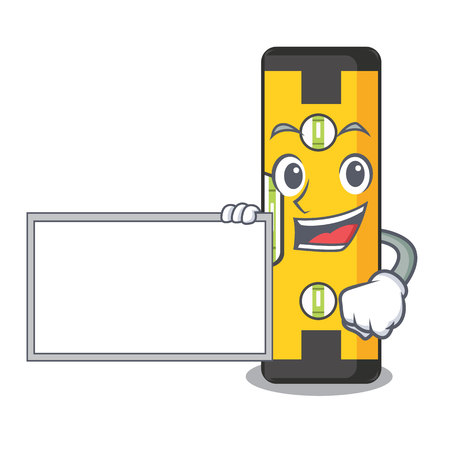 With board spirit level isolated in the cartoon Stock Illustratie
