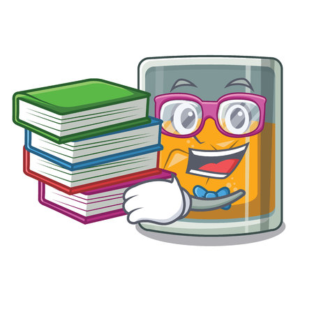 Student with book whiskey in the a mascot shape
