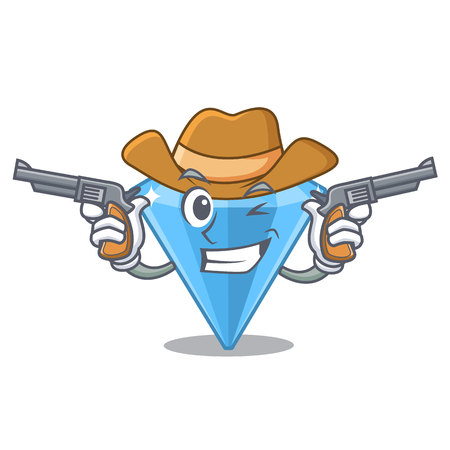 Cowboy sapphire gems isolated in the character Illustration