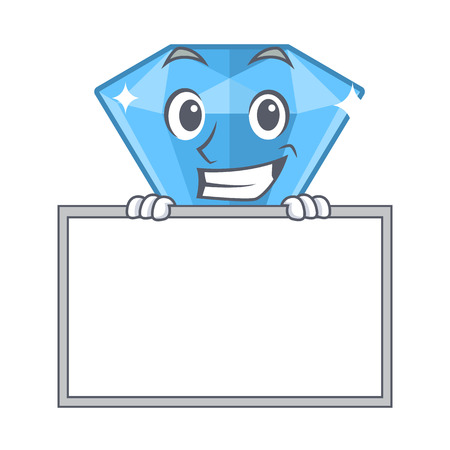 Grinning with board sapphire gems isolated in the character