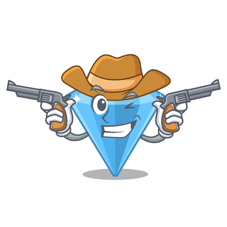 Cowboy sapphire gems isolated in the character vector illustartion