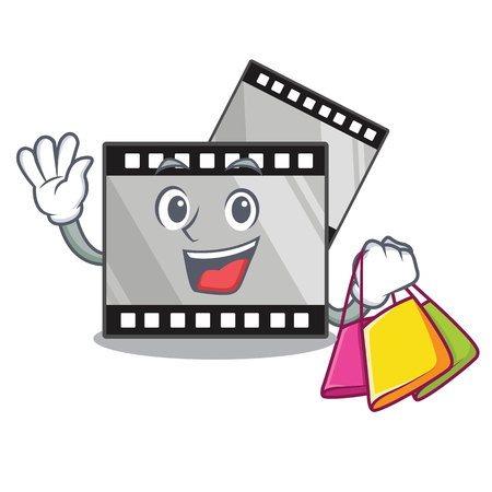 Shopping film strip in the character shape