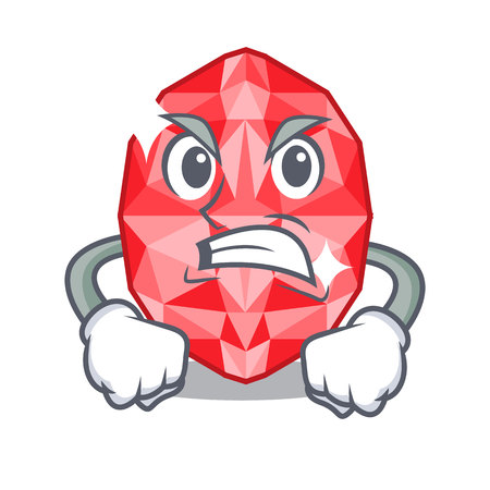 Angry ruby gems above cartoon dressing table vector illustration