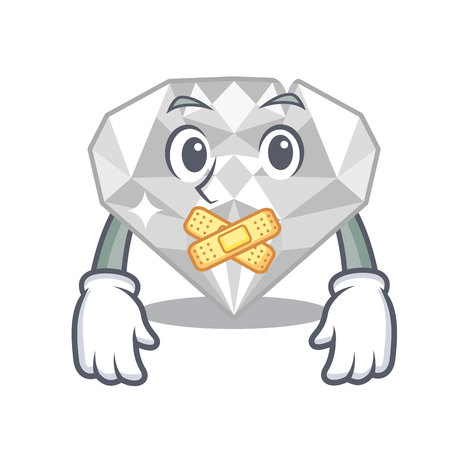 Silent white diamond in the character box