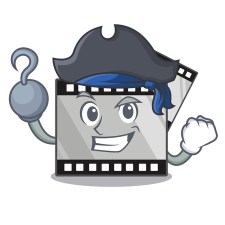 Pirate film stirep isolated in the mascot