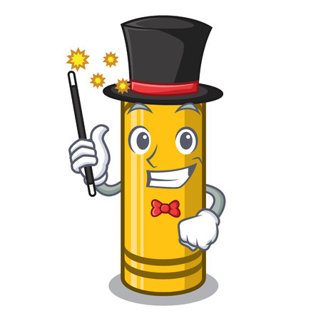 Magician yellow crayon isolated in the mascotvector illustration