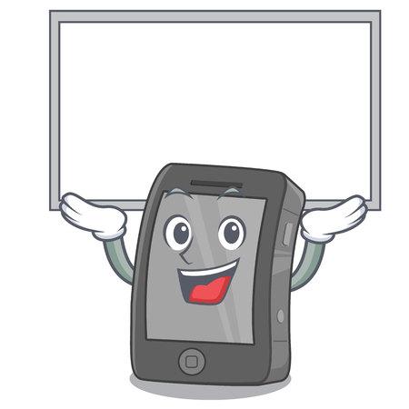 Up board phone the in a mascot bag