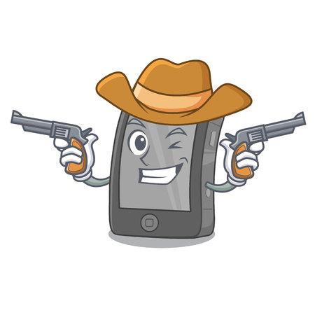 Cowboy phone the in a mascot bag