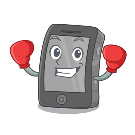 Boxing phone the in a mascot bag