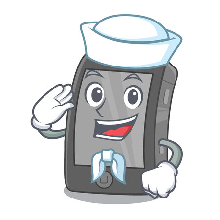 Sailor phone the in a mascot bag Illustration