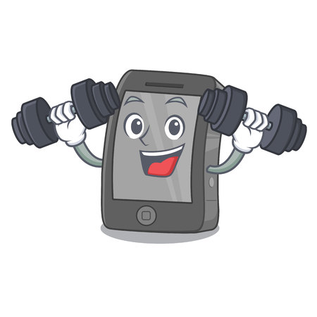 Fitness phone the in a mascot bag