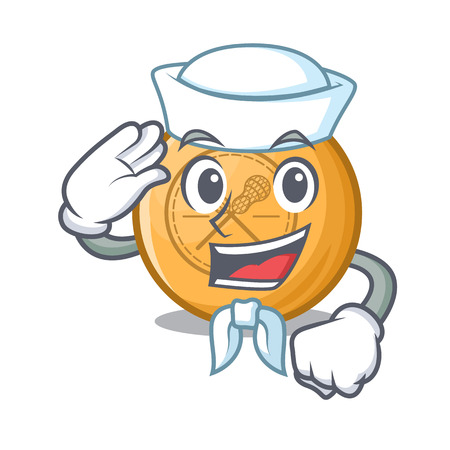 Sailor lacrosse ball isolated with the character Illustration