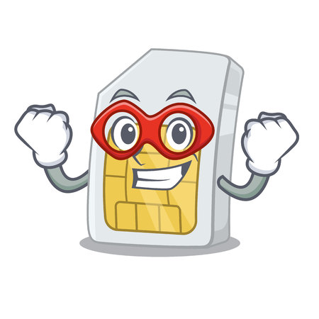 Super hero sim card in the a character shape