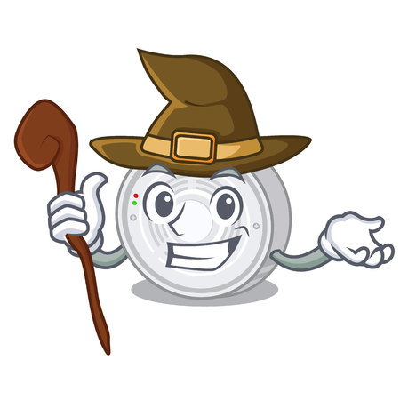 Witch smoke detector in the cartoon shape