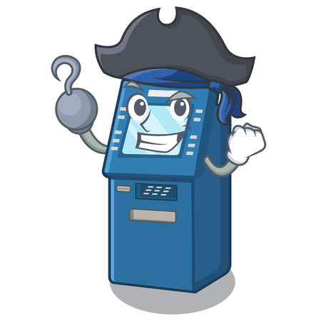 Pirate ATM machine isolated with the mascot