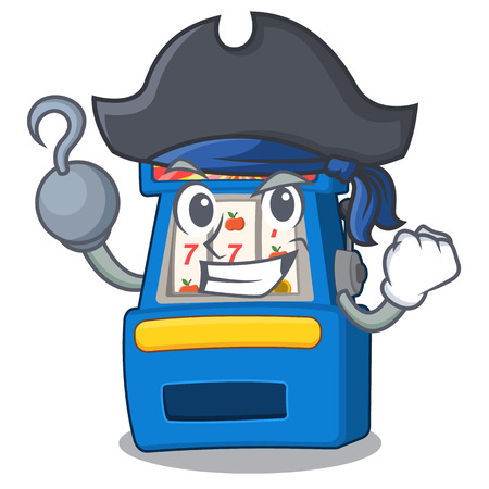 Pirate slot machine in the mascot shape