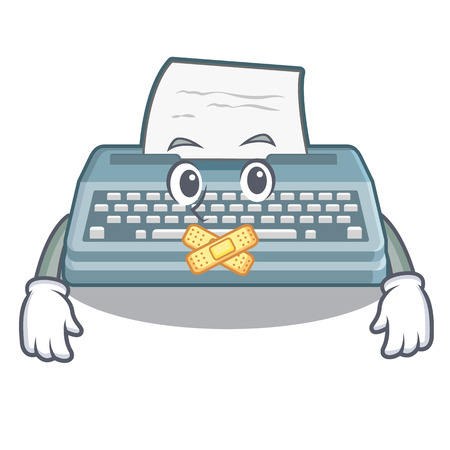 Silent typewriter in the a mascot closet Illustration