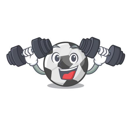 Fitness soccer ball in the cartoon shape vector illustration Иллюстрация