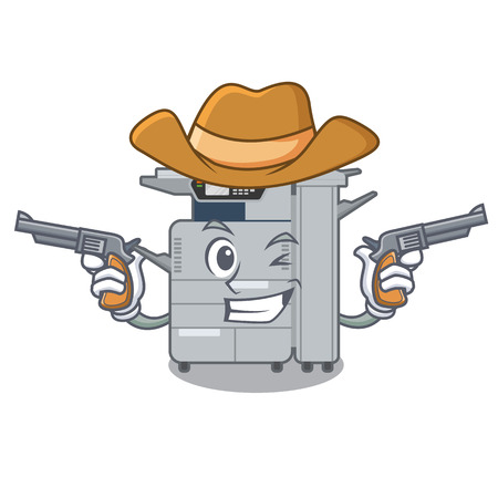 Cowboy copier machine in the cartoon shape